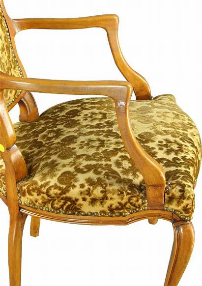 Chair Accent French Upholstered Arm 1930 Country