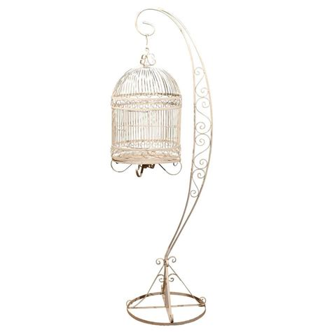 birdcage stands vintage iron bird cage on stand at 1stdibs