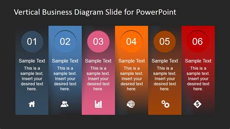 vertical business diagram   powerpoint slidemodel