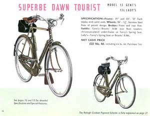 retro raleighs 1951 raleigh catalogue page 16 superbe