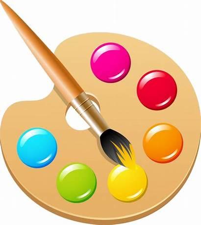 Palette Paint Clip Brush Transparent Artist Pigment