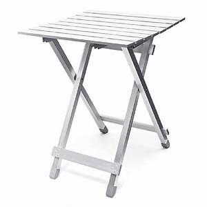 Table Camping Pliable : relaxdays table pliante aluminium table d 39 appoint jardin camping pliable h x l x p 61 x 49 5 x ~ Farleysfitness.com Idées de Décoration