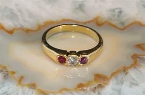 Christ Schmuck Online : rubin ring mit diamant gold 750 second hand schmuck ~ Watch28wear.com Haus und Dekorationen
