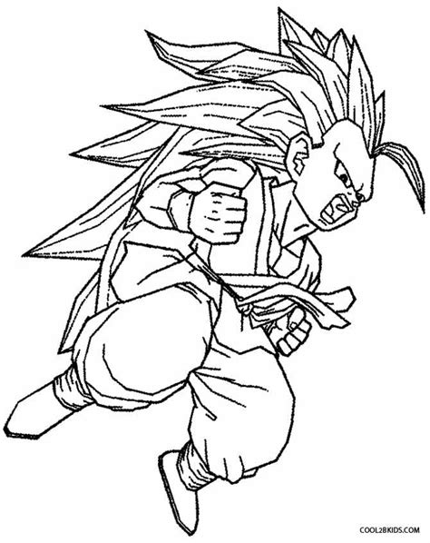 printable goku coloring pages  kids coolbkids