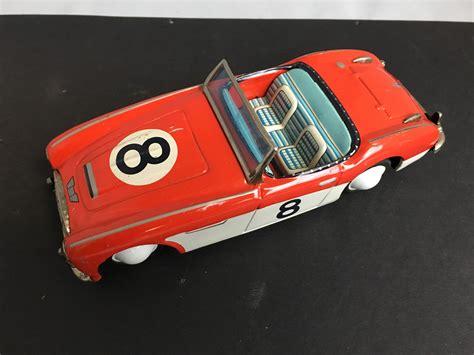 austin healey    race car bandai japan tin toy
