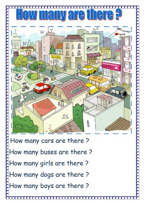 How Many Are There ?  Interactive Worksheet