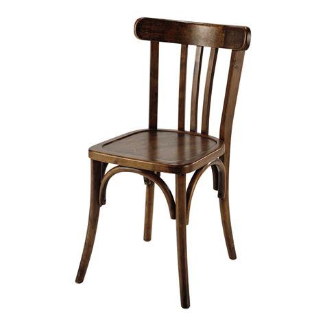 chaises bistrot bois chaise de bistrot en bois marron troquet maisons du monde