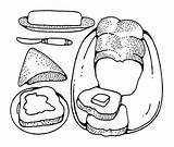 Coloring Butter Drawings Drawing Peanut Bread sketch template