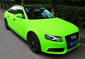 Audi A4L is shiny lime green in China CarNewsChina