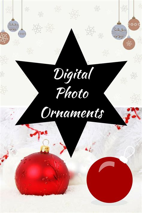 dazzle the tree with a digital photo ornament ball