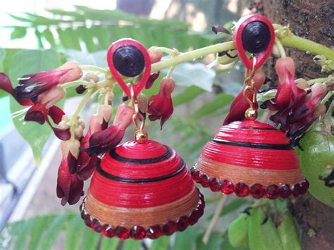paper quilled jhumka  images quilling jewelry