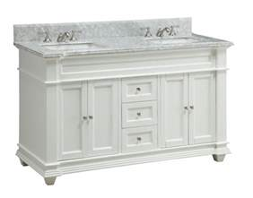 adelina 60 inch double sink bathroom vanity white finish