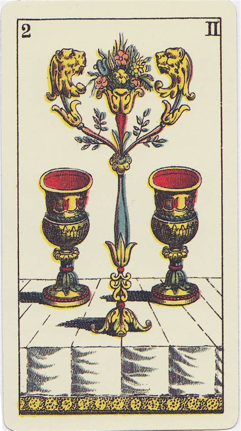 Two Of Cups Art And Meaning Queen Of Tarot