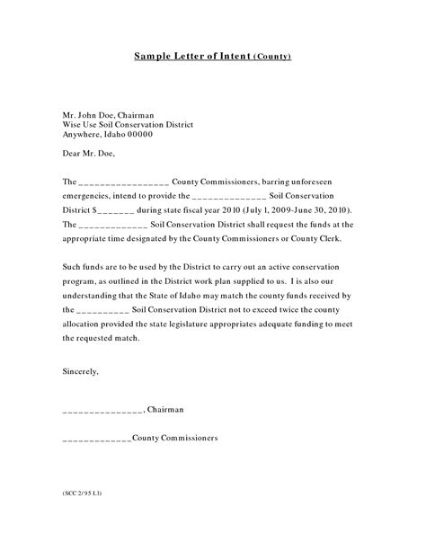 letter  intent  job writing professional letters