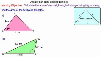 Trigonometry Area Triangles Mr Worksheet Lesson Mathematics