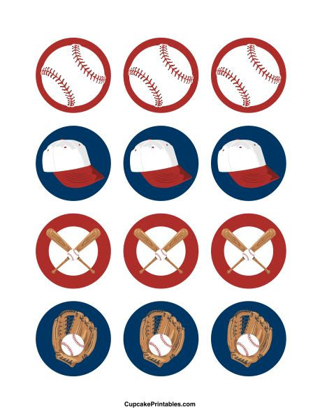 basketball cake toppers printable baseball cupcake toppers