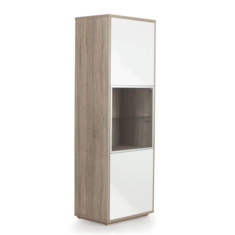 Meuble Alinea Meuble Tele Meuble Tv Design Bois Meuble Colonne à Fixer Au Mur 3 Portes Imitation Chêne