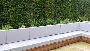 Sleek Seating Framed with Yew Hedging - Randle Siddeley