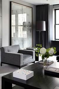 Salon Vert De Gris : le salon gris et noir comment le d corer ~ Melissatoandfro.com Idées de Décoration