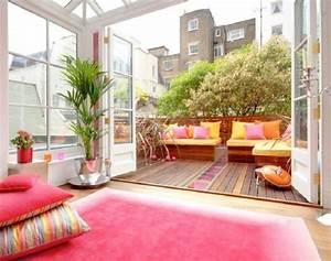 wohntipps fur balkon gestaltung sichtschutz und deko With balkon teppich mit tapeten farben ideen