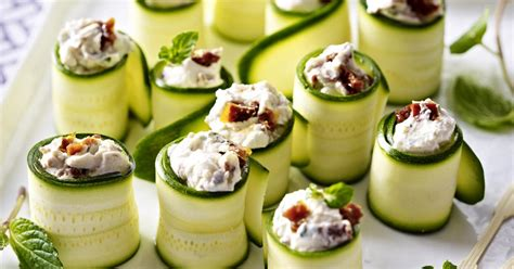 german canapes zucchini and goat cheese canapés recipesplus