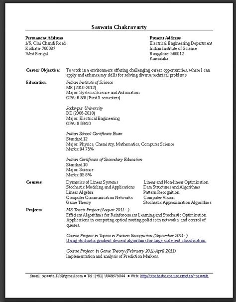 Resume For Fresh Graduate Software Engineer by Resume Sle For Fresh Graduate Teachers Resume Sle