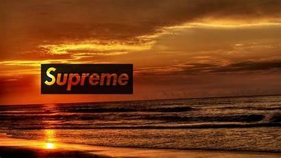 Supreme Desktop Sunset Wallpapers Lit Phones Device