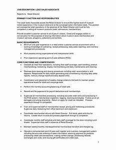 sales associate job description template 8 free wordsales With free resume job descriptions