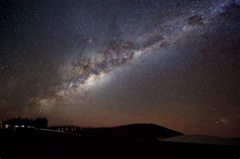 Atacama Desert Night Sky The Milky Way Shines Paranal