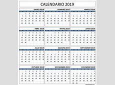Calendario 2019 Con Vacaciones Calendario 2019 Gratis