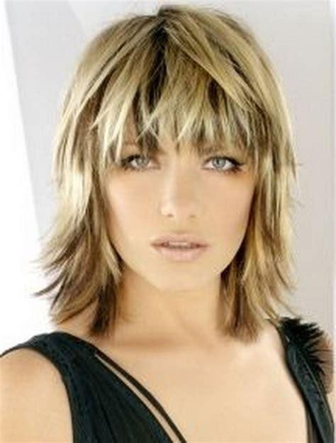 photo  short  medium length shaggy hairstyles