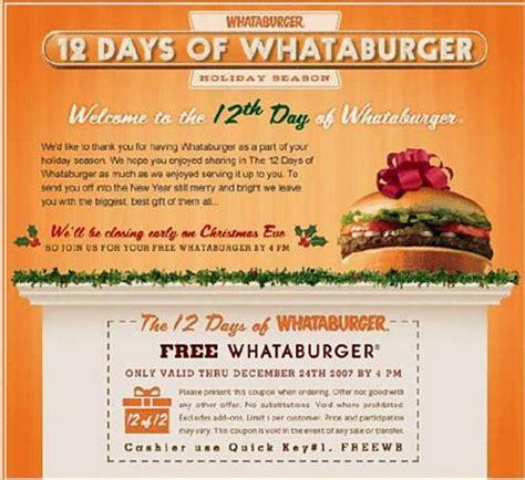 32433 Whataburger Printable Coupons by Whataburger Coupons Coupon Codes