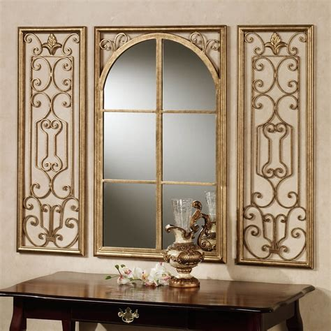 deluxe wall decor mirror with window shaped wall mirror