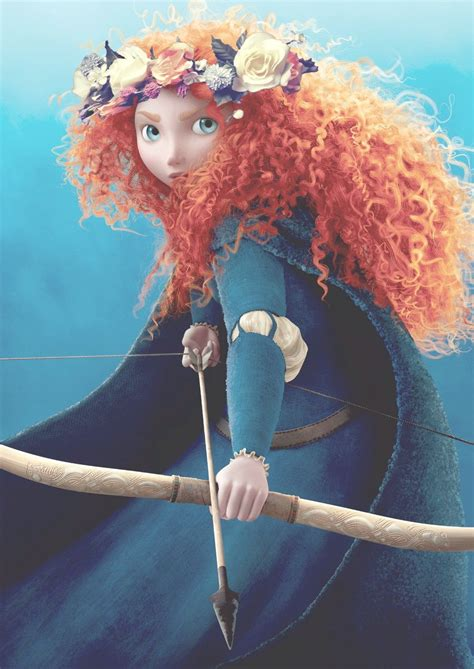 Merida with a flower crown! | Brave characters, Brave ...
