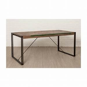 table vintage noah in solid recycled teak and metal With table a manger vintage