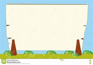 Border Template With Garden Background Stock Vector ...