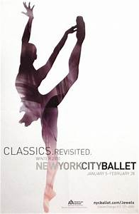 NYC BALLET Poster WINTER SEASON 2 x 3 Rare 2010 Mint