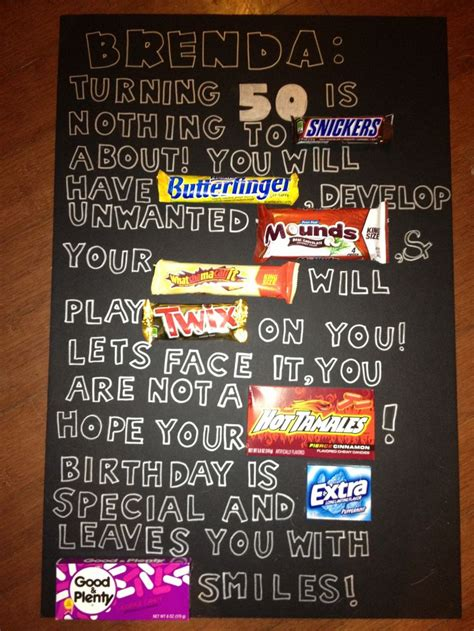 candy bar   hill poster  birthday ideas