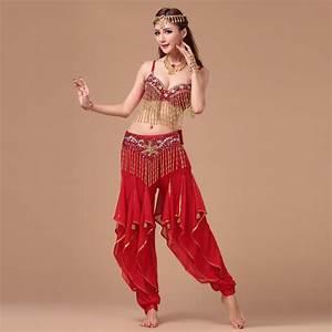 Belly Dance Costumes New Belly Dance Set (bra+belt+pants ...