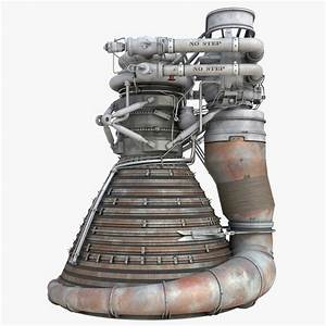 F 1 Rocket Engine 2 3d 3ds