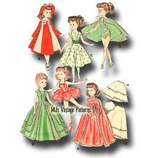 vtg doll clothes pattern ballerina dress