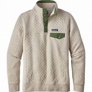 Patagonia Cotton Quilt Snap T Pullover Sweatshirt Women