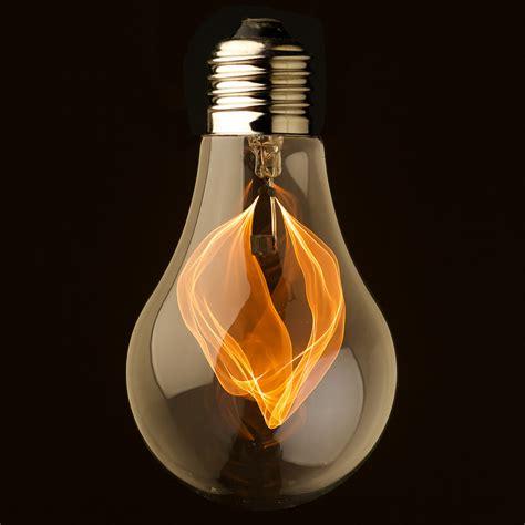 flickering light bulb vintage clear glass flicker bulb