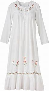 Womens Night Bauhaus : embroidered white nightgown womens woven cotton nightdress ~ Eleganceandgraceweddings.com Haus und Dekorationen
