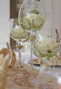 tischdeko idee goldene hochzeit k d hochzeit hochzeit white roses and vase - Blumen Goldene Hochzeit