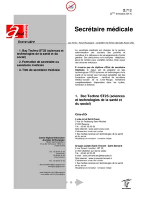 fiche de poste secretaire medicale en hemodialyse pdf