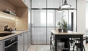 1001 idee per cucine moderne piccole soluzioni di design With cucine con isola e piano legno