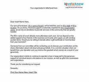 samples of non profit fundraising letters lovetoknow With non profit funding request letter
