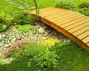 Pont En Bois Pour Jardin : jardin paysager moderne comment l 39 am nager ~ Nature-et-papiers.com Idées de Décoration