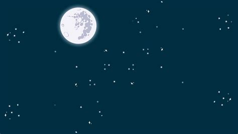 Animated Moon Wallpaper - animated of a starry with a moon motion